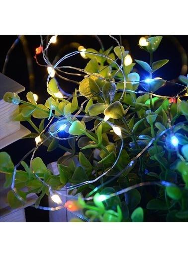 Buffer Şişe Mantar Tıpa Şeklinde 2 Metre İnce Tel Pilli RGB Peri Led Renkli